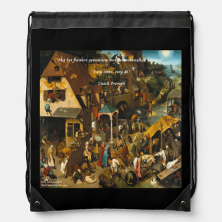 16th Century Dutch Painting & Proverb Backpack