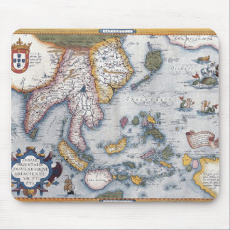 16th Century Map of South East Asia and Indonesia Mouse Pad
