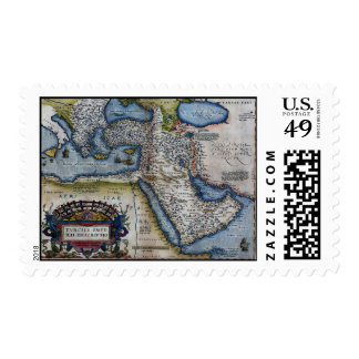 16th Century Map of The Middle East Stamps