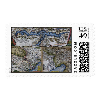 16th Century Map Postage Stamp