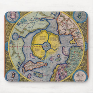 16th Century Mercator North Pole Map Mouse Pads