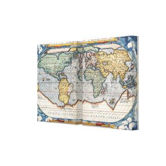 16th Century World Map Canvas Print