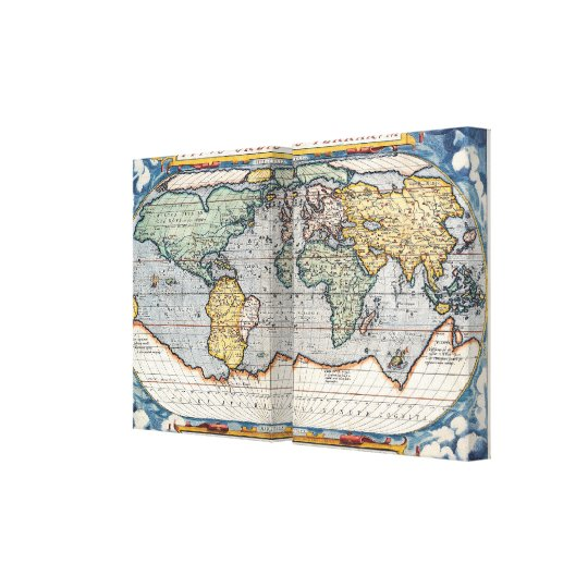 16th Century World Map Canvas Print
