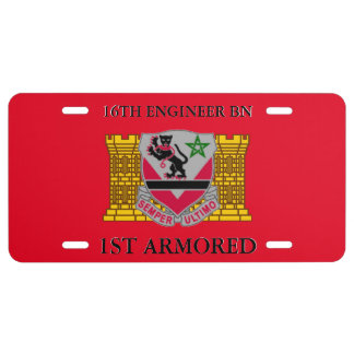16TH ENGINEER BN 1ST ARMORED LICENSE PLATE