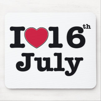 16th july my day birthday mouse pad