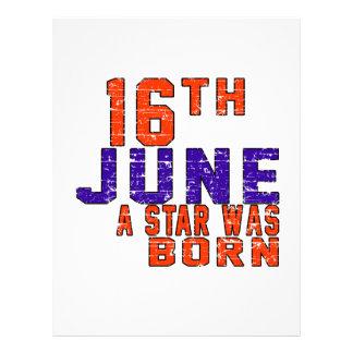 16th June a star was born Letterhead