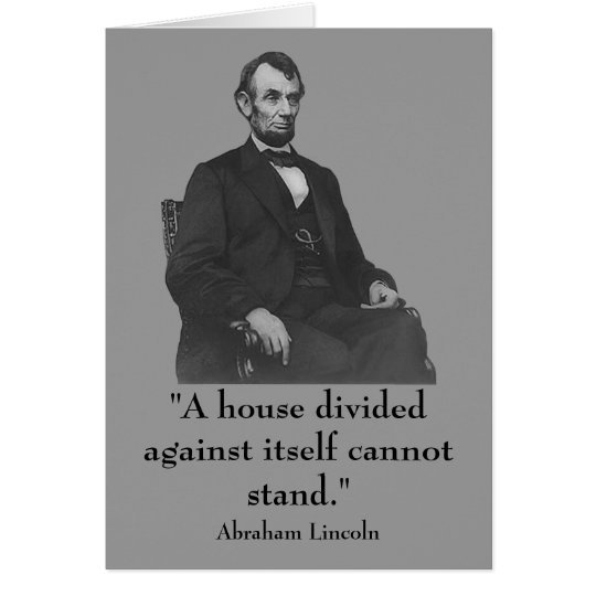 16th President Abraham Lincoln Card