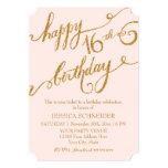 16th Sweet Sixteen Sixteenth Birthday Party Ticket Invitations