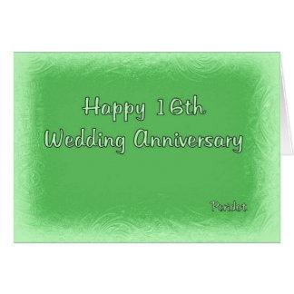 16th Wedding Anniversary Card