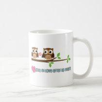 16th Wedding Anniversary Owls Coffee Mug