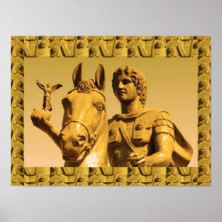 """16x12"""" Alexander Great, Alexandria Egypt, Vintage Poster"""