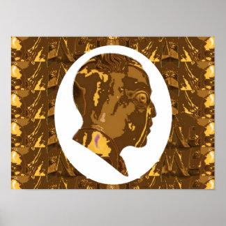 "16x12"" OBAMA: Visionario Nobel del estadista del m Poster"