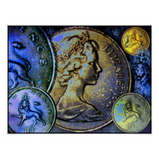 16x12 Value Poster - Great Britain 10 New Pence