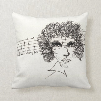 16x16 throw pillow Beethoven with 9th