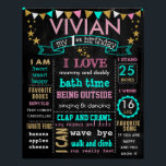 "16x20&quot; Birthday chalkboard sign personalized<br><div class=""desc"">You can change wording colors and sizes. 