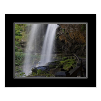 16x20 Dry Falls Waterfall in North Carolina Poster