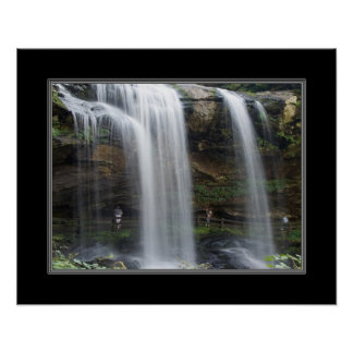 16x20 Dry Falls Waterfall in North Carolina Print