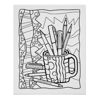 16x20 POSTER You COLOR - A CUP FULL OF COLORING