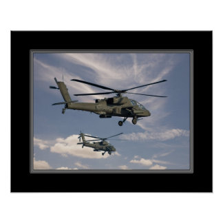 16x20 Print of Military Helicopters