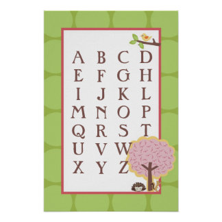 16x24 ABC Wall Art Love and Nature Girl Woodland