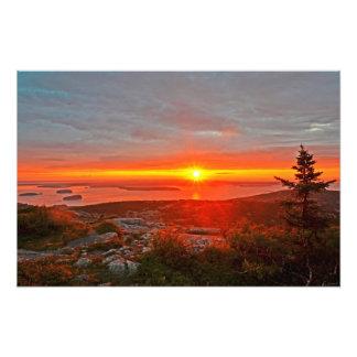 16x24 Cadillac Mountain Sunrise Acadia Natl Park Photo Print