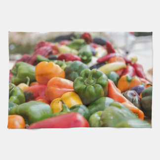 16x24 cotton twill kitchen towel with peppers