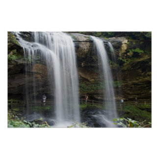 16x24 Dry Falls Waterfall in North Carolina Poster