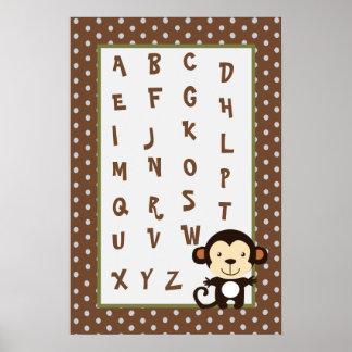 16x24 Nursery Art ABC Chart Jungle Play