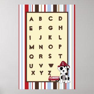 16x24 Nursery Art ABC Chart Nojo Jungle Tales