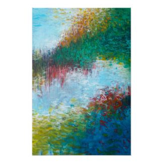 16x24 Triptych Part 3 Abstract Painting Art Print