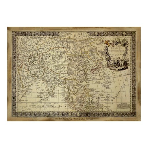 1700 AD OLD WORLD MAP Poster Zazzle