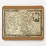 1700 ANTIQUE World MAP Mousepad