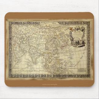 1700 mapa del mundo ANTIGUO Mousepad Tapetes De Ratón