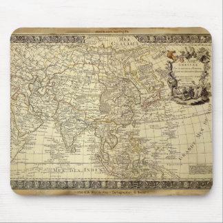 1700 mapa del mundo ANTIGUO Mousepad Alfombrillas De Ratones