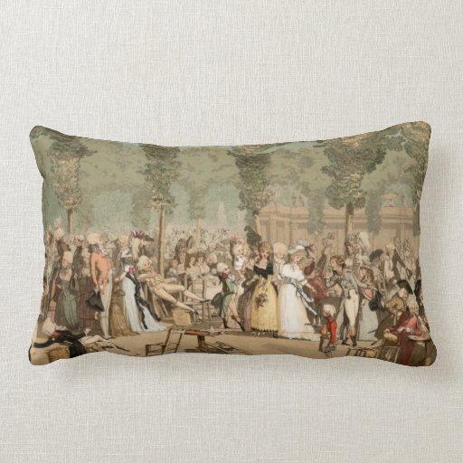 1700s franceses del jardín de los aristócratas del almohadas
