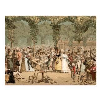 1700s franceses del jardín de los aristócratas del postal