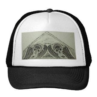1700s Grave Rubbing Winged Cherubs Design Trucker Hat