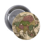 1700's Map of Asia Pinback Buttons