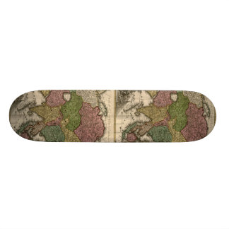 1700's Map of Asia Skateboard Deck