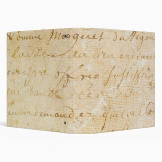 1700s Vintage French Antique Script Background Binder