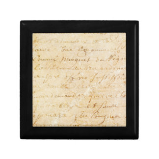1700s Vintage French Antique Script Background Gift Box