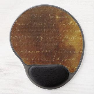 1700s Vintage French Grunge Script Parchment Paper Gel Mouse Pad