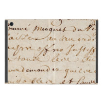 1700s Vintage French Script Grunge Parchment Paper iPad Mini Case