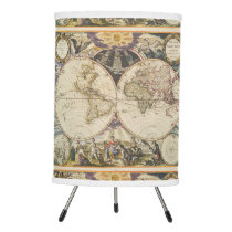 1702 A new map of the world Tripod Lamp