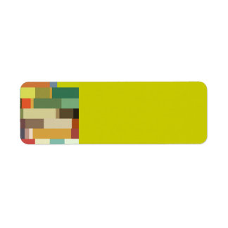 1702 rectangles squares COLORFUL PATTERN RANDOM BA Return Address Label