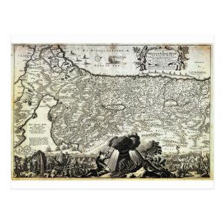1702 Visscher Stoopendaal Map of Israel Palestine Postcard