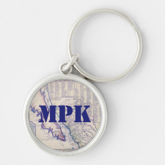 1705 California and New Mexico Luggage Tag Key Chain