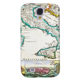 1706 de la Feuille Map of Italy Geographicus Galaxy S4 Case