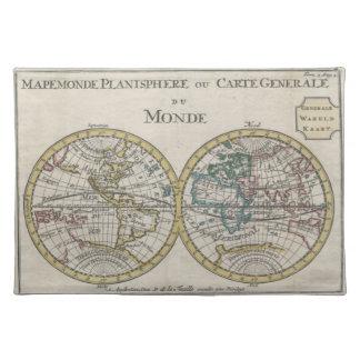 1706 de La Feuille Map of the World Placemat