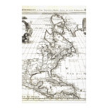 1708 De L'Isle Map of North America Covens and Mo Customized Stationery